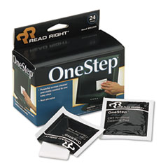 OneStep Screen Cleaner, 5 x 5, 24/Box REARR1209