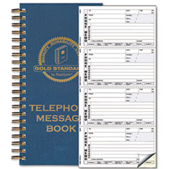 Wirebound Message Book, 5 x 2 3/4, Two-Part Carbonless, 600 Sets/Book