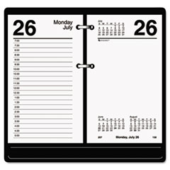 Recycled Desk Calendar Refill, 3 1/2 x 6, White, 2017