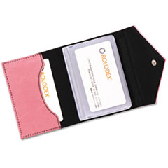 Resilient Personal Card Case, Faux Leather, 3-1/2 x 2-1/2, Pink