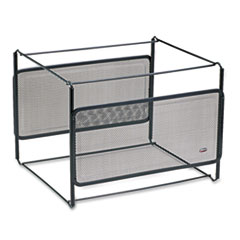 Letter Size Mesh File Frame Holder, Wire, 12 3/8 x 11 3/8 x 9 5/8, Black