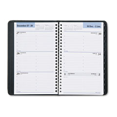 "COU ** Recycled Weekly Appointment Book, Black, 4 7/8"" x 8"", 2013 at Sears.com"