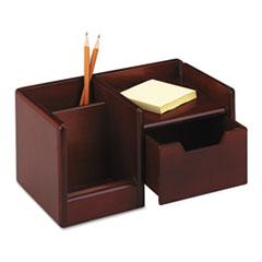 Wood Tones Handheld Electronics Organizer, 10 x 6 x 5, Mahogany ROL98800