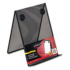 Nestable Wire Mesh Freestanding Desktop Copyholder, Stainless Steel, Black