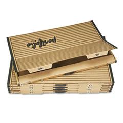 "Fiberboard Portfolio w/Metal Turnbuckles, 1-1/8"" Cap, 36-1/2 x 24-1/4, Sand/BLK"
