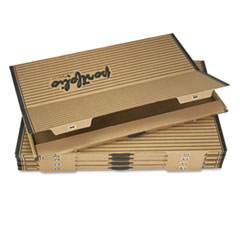 "Fiberboard Portfolio w/Metal Turnbuckles, 1-1/8"" Cap, 42-1/4 x 30-1/4, Sand/BLK"