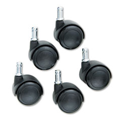 TaskMaster Hard Floor Casters, Black, 5/Set