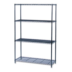 COU ** Industrial Wire Shelving Starter Kit, 4 Shelves, 48w x 18d x 72h, Blac at Sears.com