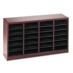 Wood/Fiberboard E-Z Stor Sorter, 24 Sections, 40 x 11 3/4 x 23, Mahogany