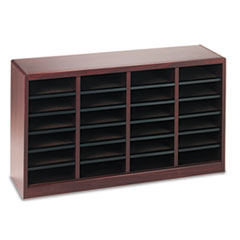 Wood/Fiberboard E-Z Stor Sorter, 24 Sections, 40 x 11 3/4 x 23, Mahogany SAF9311MH