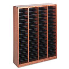 Wood/Fiberboard E-Z Stor Sorter, 60 Sections, 40 x 11 3/4 x 52 1/4, Medium Oak SAF9331MO