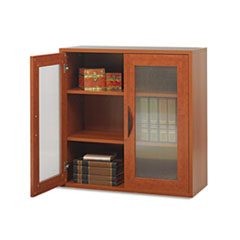 """Safco """"Aprs Two-Door Cabinet, 29-3/4w x 11-3/4d x 29-3/4h, Cherry"""" at Sears.com"""