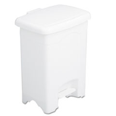 COU ** Step-On Receptacle, Rectangular, Plastic, 4 gal, White at Sears.com