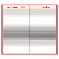 Standard Diary Daily Diary, Recycled, Red, 7 11/16 x 12 1/8, 2017