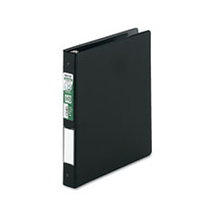 "Clean Touch Locking Round Ring Reference Binder, Antimicrobial, 1"" Cap, Black"