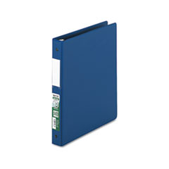 "Clean Touch Locking Round Ring Reference Binder, Antimicrobial, 1"" Cap, Blue"