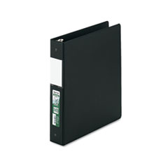 "Clean Touch Locking Round Ring Reference Binder, Antimicrobial, 1.5"" Cap, Black"