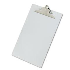 """Aluminum Clipboard w/High-Capacity Clip, 1"""" Clip Cap, 8 1/2 x 14 Sheets, Silver"""
