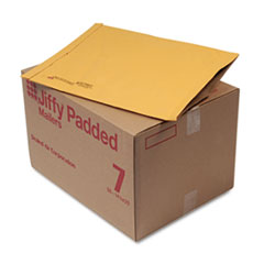 Jiffy Padded Mailer, Side Seam, #7, 14 1/4 x 20, Natural Kraft, 50/Carton