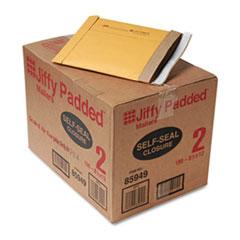 Jiffy Padded Self Seal Mailer, #2, 8 1/2 x 12, Natural Kraft, 100/CT