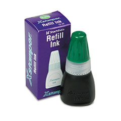 Refill Ink for Xstamper Stamps, 10ml-Bottle, Green