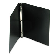 "ACCOHIDE Poly Ring Binder With 23-Pt. Cover, 1/2"" Capacity, Black"