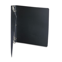 """ACCOHIDE Poly Ring Binder With 35-Pt. Cover, 1"""" Capacity, Black"""