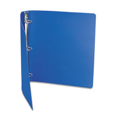 "ACCOHIDE Poly Ring Binder With 35-Pt. Cover, 1"" Capacity, Dark Royal Blue"