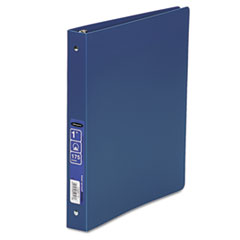 "ACCOHIDE Poly Ring Binder With 35-Pt. Cover, 1"" Capacity, Blue"