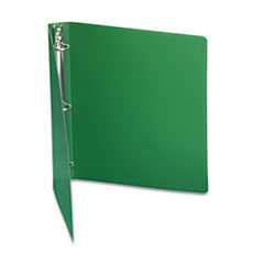 "ACCOHIDE Poly Ring Binder With 35-Pt. Cover, 1"" Capacity, Forest Green"