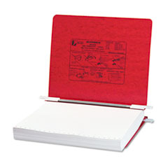 "Hanging Data Binder with PRESSTEX Cover, Unburst Sheets, 6"" Cap, Executive Red"