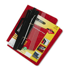 3-Hole Laser Printer Hanging Expandable Binder, 8-1/2 x 11, Red