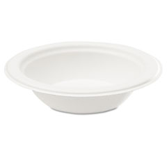 Compostable Sugarcane Bagasse 16 oz Bowl, Round, White, 100/Pack SVAL010