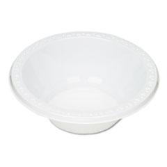 Plastic Dinnerware, Bowls, 12oz, White, 125/Pack