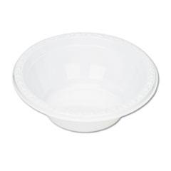 Plastic Dinnerware, Bowls, 5oz, White, 125/Pack TBL5244WH