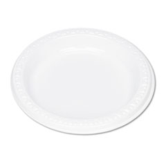 "Plastic Dinnerware, Plates, 6"" dia, White, 125/Pack"