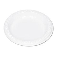 "Plastic Dinnerware, Plates, 6"" dia, White, 125/Pack TBL6644WH"