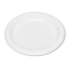 "Plastic Dinnerware, Plates, 7"" dia, White, 125/Pack TBL7644WH"