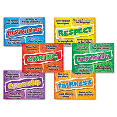 POSTER COMBO PACK, CHARACTER CHOICES, PRE-K-9, 6 POSTERS,
