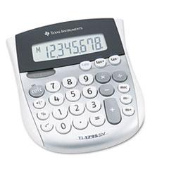 TI-1795SV Minidesk Calculator, 8-Digit LCD