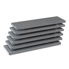 "Industrial Steel Shelving for 87"" High Posts, 36w x 12d, Medium Gray, 6/Carton TNN6Q23612MGY"