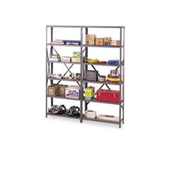 "Industrial Steel Shelving for 87"" High Posts, 48w x 24d, Medium Gray, 6/Carton TNN6Q24824MGY"