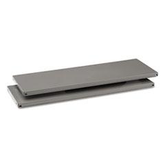 Commercial Steel Shelving Extra Shelves, 36w x 12d, Medium Gray, 2/Box TNNES12MGY