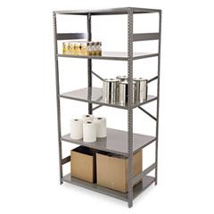 Commercial Steel Shelving, Five-Shelf, 36w x 24d x 75h, Medium Gray TNNESP2436MGY