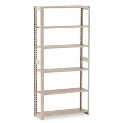 Regal Shelving Add-On Unit, Six-Shelf, 36w x 12d x 76h, Sand TNNRGL1236ASD