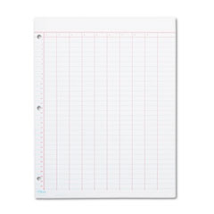 Data Pad w/Numbered Column Headings, 11 x 8 1/2, White, 50 Sheets