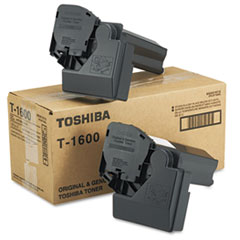 T1600 Toner, 5000 Page-Yield, 2/Carton, Black