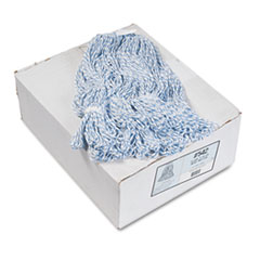 COU ** Four-Ply Floor-Finish Mop Heads, Medium, White/Blue Stripes, 12/Carton at Sears.com