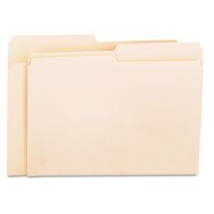 File Folders, 1/2 Cut, One-Ply Top Tab, Letter, Manila, 100/Box UNV12112