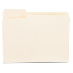 File Folders, 1/3 Cut First Position, One-Ply Top Tab, Letter, Manila, 100/Box UNV12121
